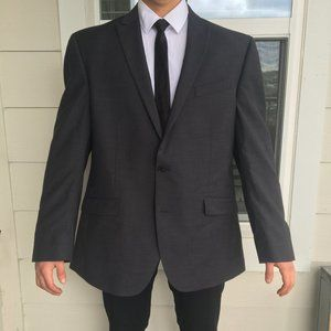 Kenneth Cole Suits & Blazers - Kenneth Cole Dark Charcoal Slim Fit Blazer 46R